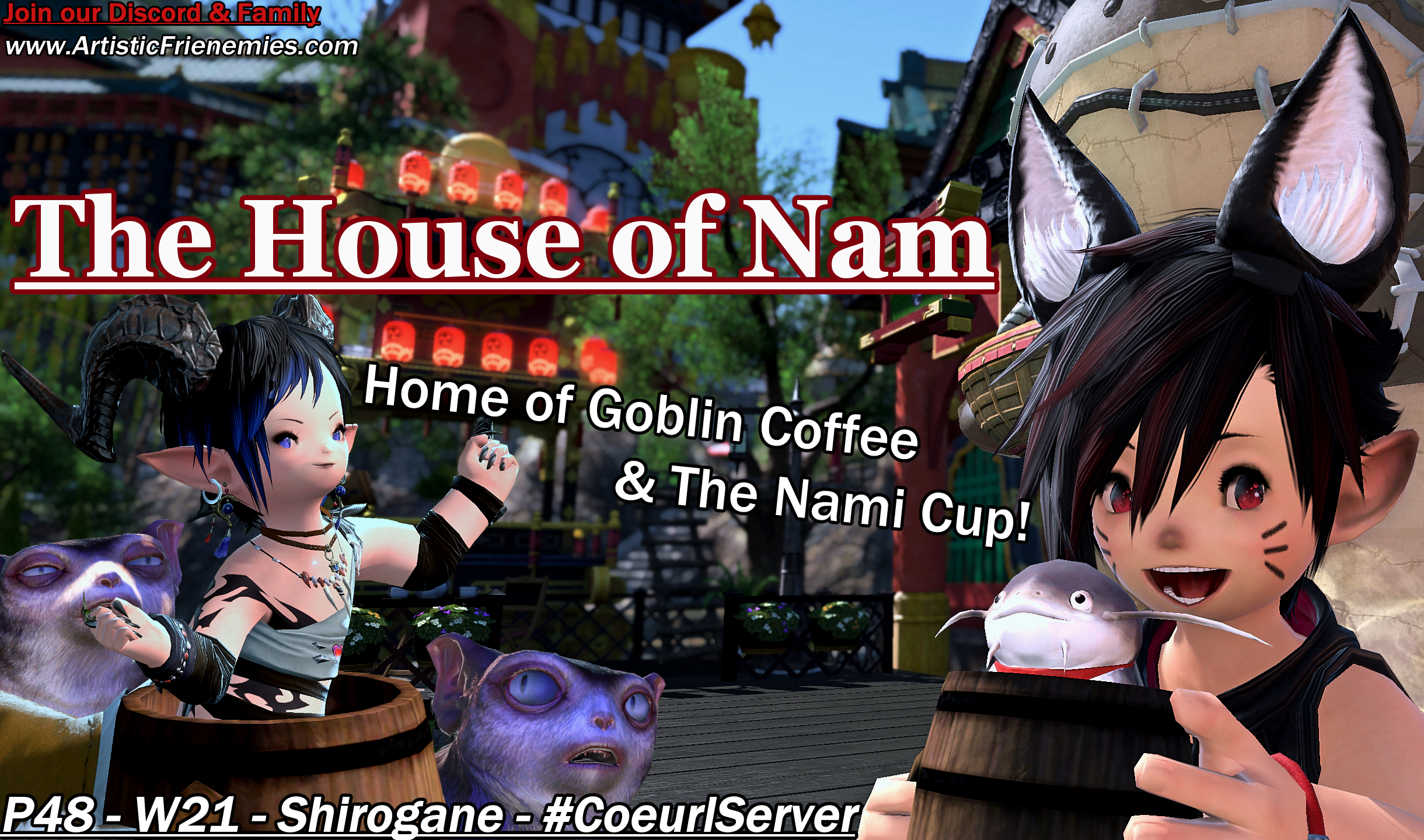 The House of Nam A fun FFXIV inspired location. Product of a joke gone way too far.